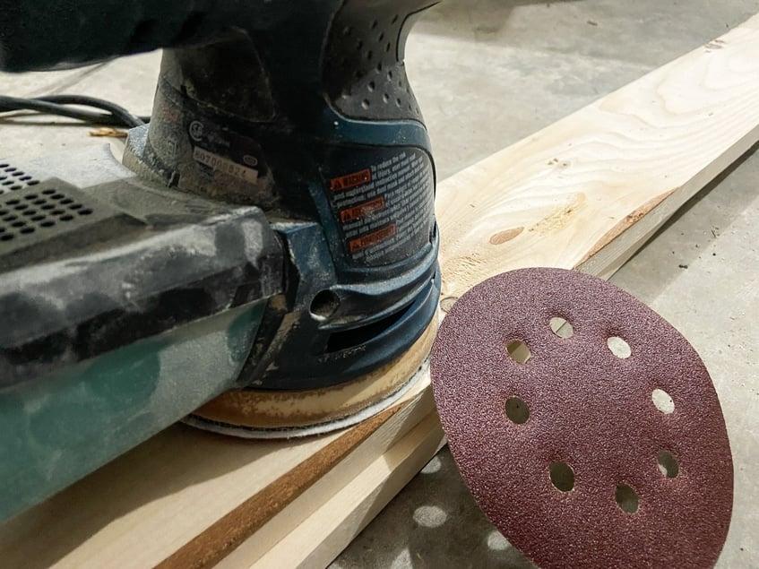 sander on pressure treated wood