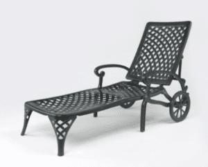 luxury cast aluminum chair