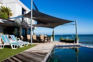 luxury backyard sun protection