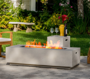 fire pit gas table to cook