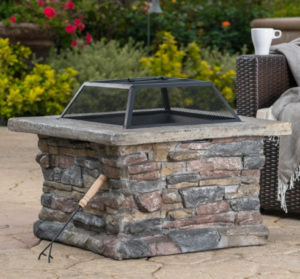 brick fire pit for roasting marshmallows