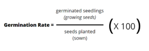 germination rate calculation