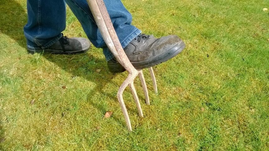 aerate lawn tools
