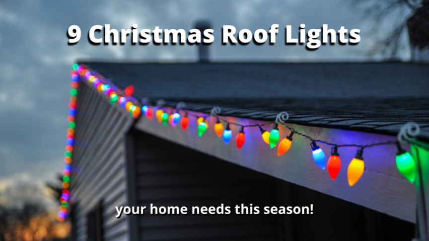 Christmas roof lights for outdoors