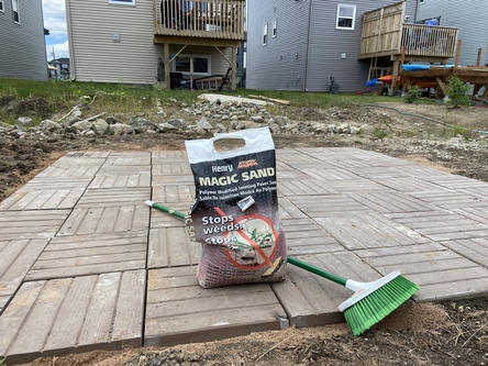 bonding sand for pavers