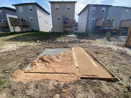 spreading sand for pavers diy