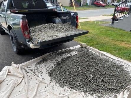 truck load of gravel