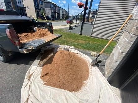 masonry sand for paver base