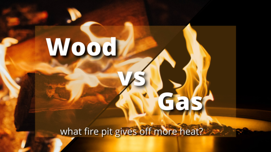 wood vs gas fire pit what's better for heat