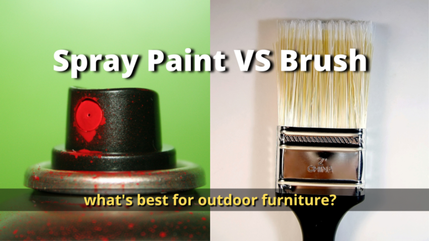 spray paint or brush outdoor furniture