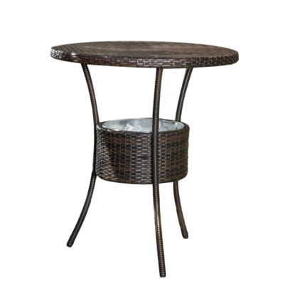 table for patio with cooler bucket