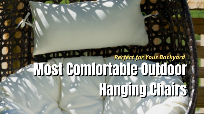 comfy hanging chair for outside
