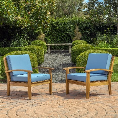 wooden acacia comfy chairs