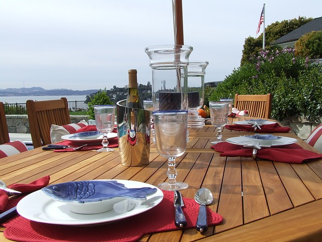 sun proof teak dining table