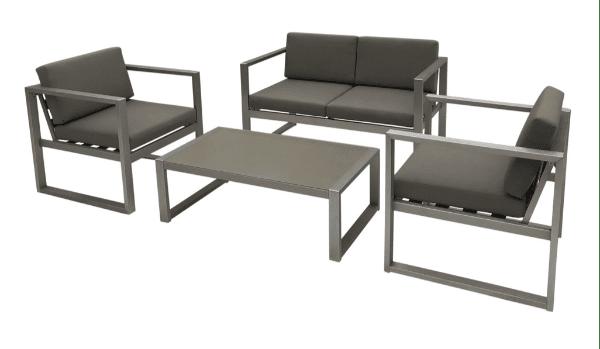 outdoor aluminum chat set